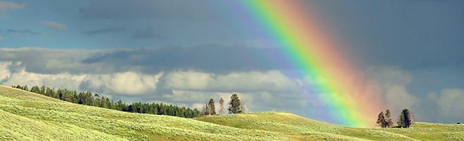 Photo Image of a rainbow