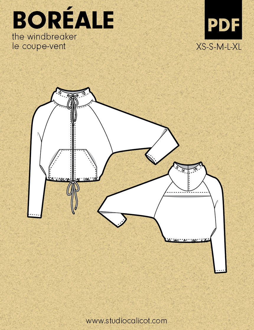 Boreale The Windbreaker Pdf Sewing Pattern By Studio Calicot