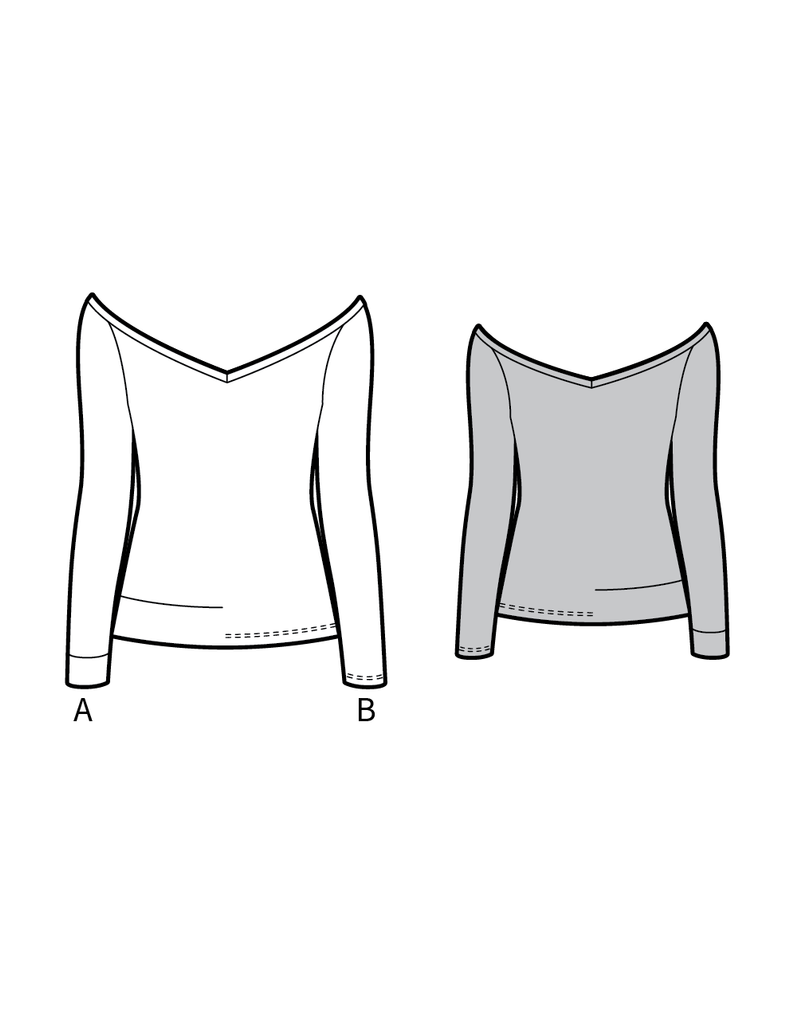 CANNES the jersey top - PDF sewing pattern