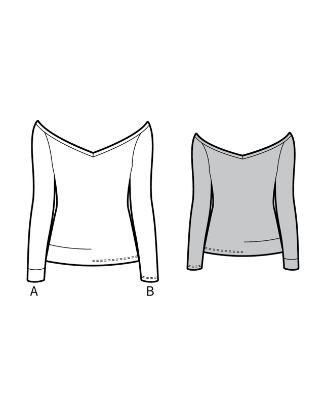 CANNES the jersey top - PDF sewing pattern by Kommatia Patterns