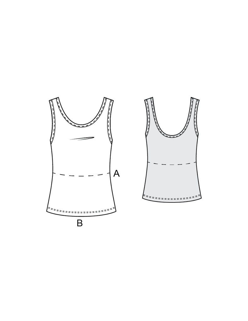 COCO tank top / crop top - PDF sewing pattern by Kommatia Patterns