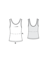 COCO tank top / crop top - PDF sewing pattern