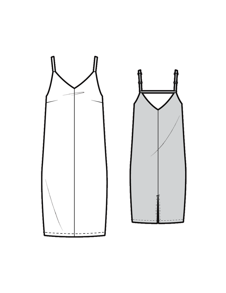 DR308 Slip dress - PDF sewing pattern by Kommatia Patterns