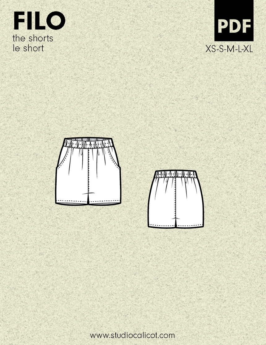 FILO the shorts - PDF sewing pattern by Kommatia Patterns