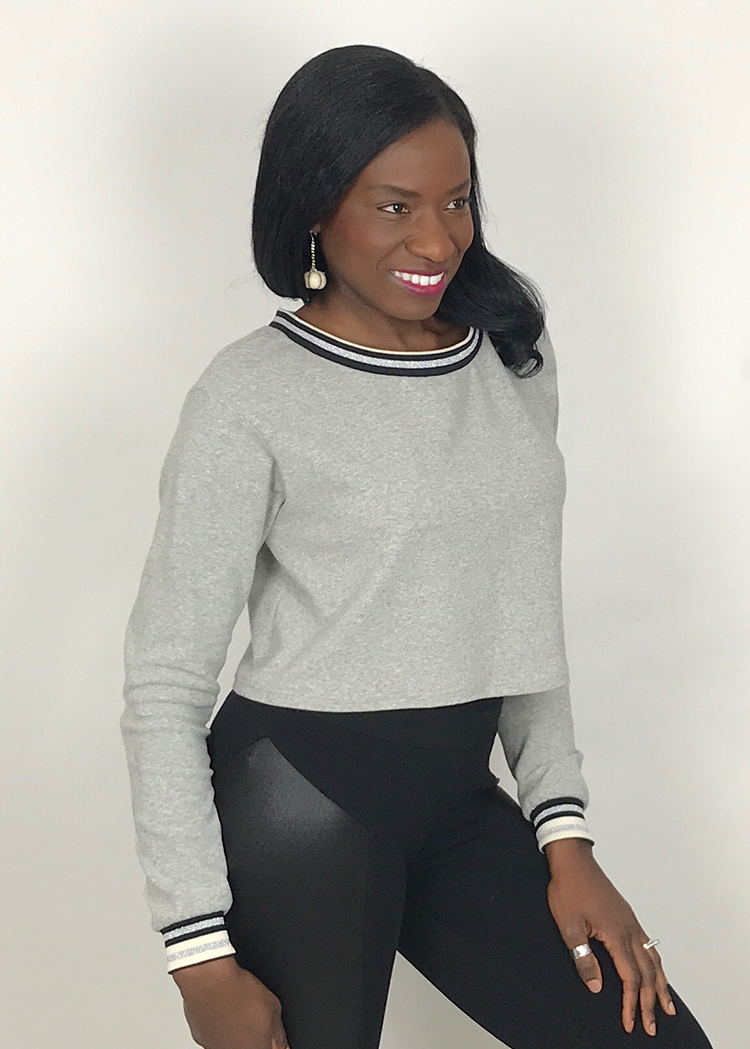 FLASH the cropped sweatshirt - PDF sewing pattern