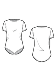 JIMMY - the t-shirt bodysuit - PDF sewing pattern