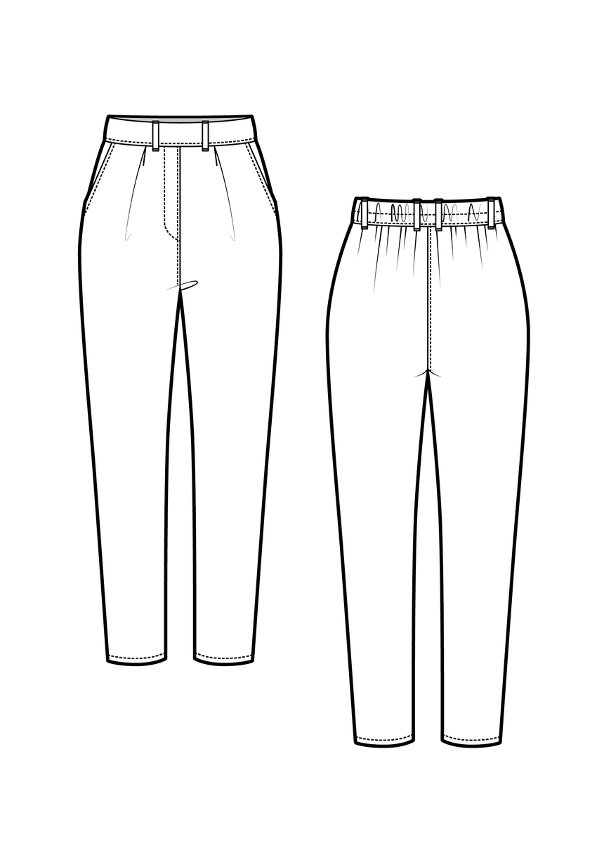 JUNIPER the trousers - PDF sewing pattern