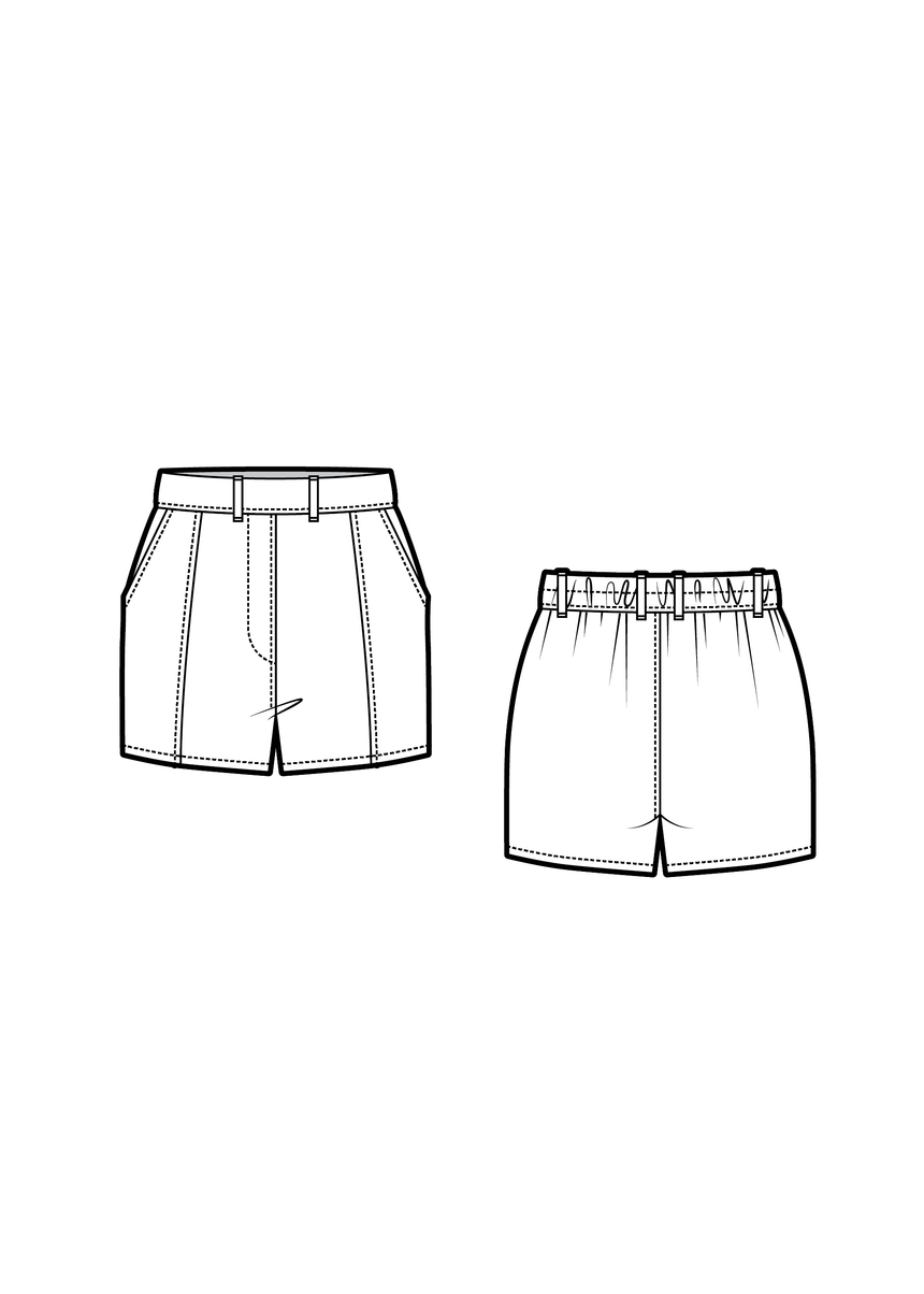 MAYFAIR the shorts - PDF sewing pattern