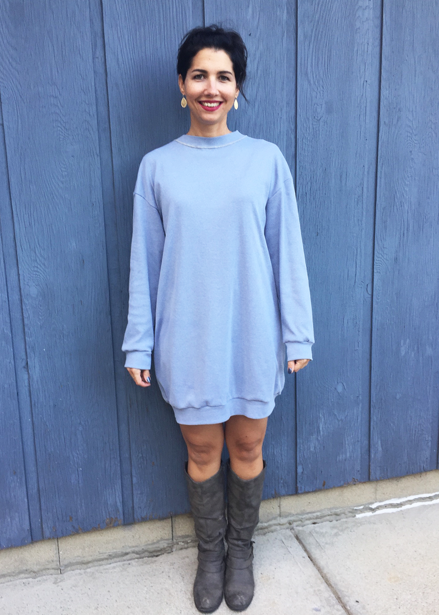 OLIVE the sweatshirt dress - PDF sewing pattern by Kommatia Patterns