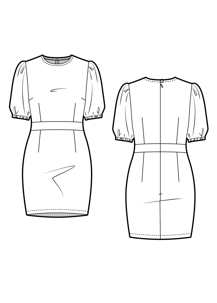 OMBRELLE the dress - PDF sewing pattern