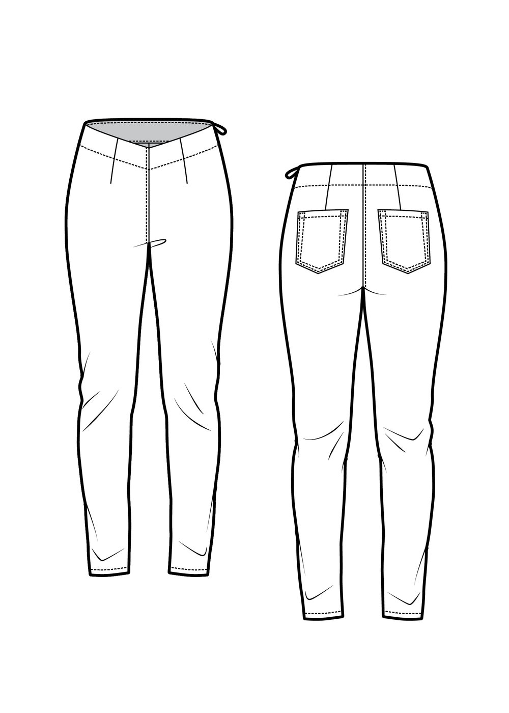 RACHEL the skinny trousers - PDF sewing pattern by Kommatia Patterns