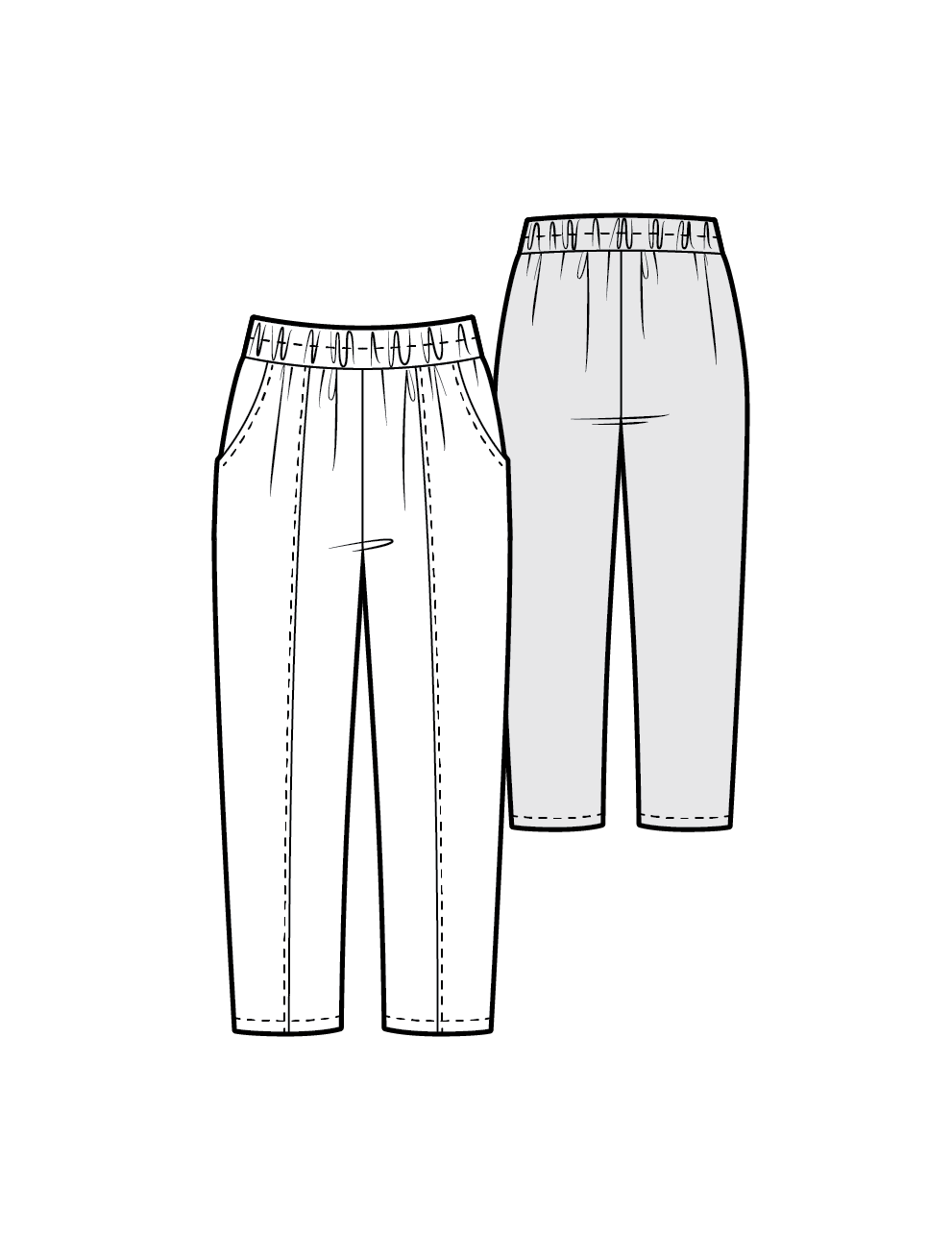 ROMMY the cropped trousers - PDF sewing pattern by Kommatia Patterns