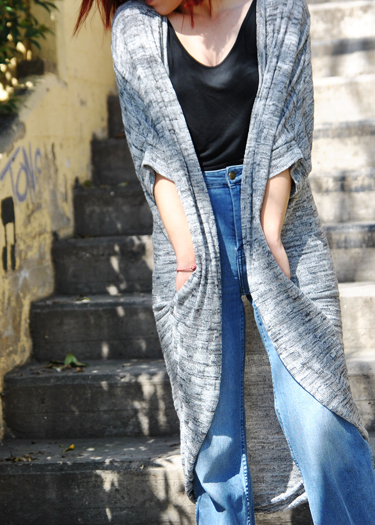 SW603 Long cardigan - PDF sewing pattern by Kommatia Patterns