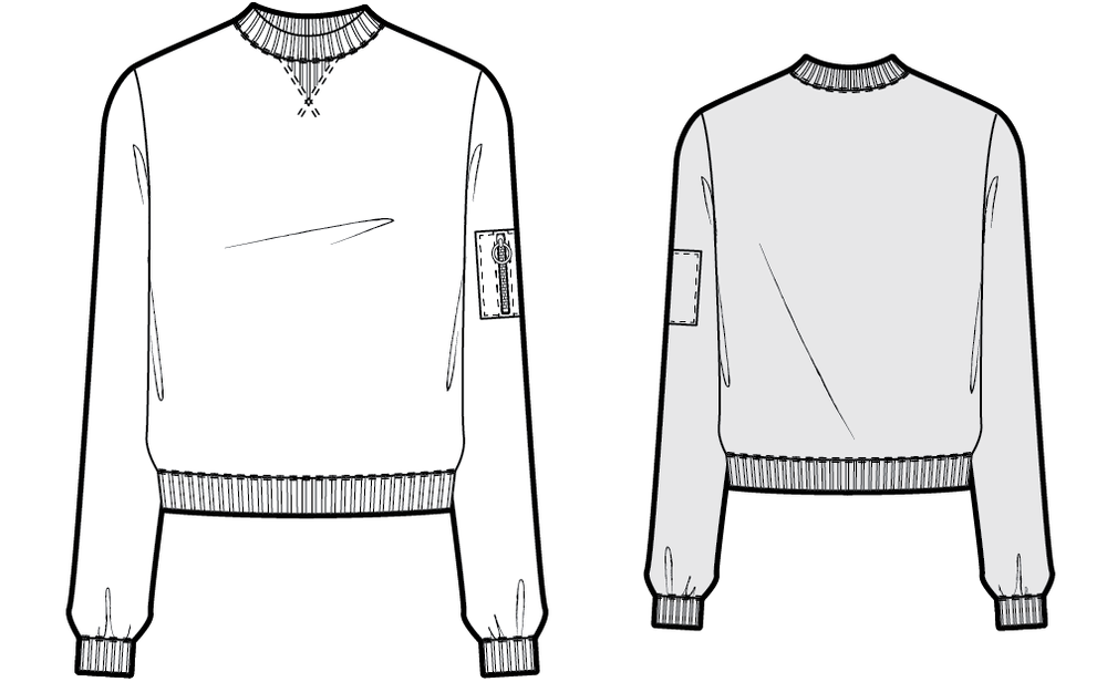 SW604 Sweatshirt - PDF sewing pattern by Kommatia Patterns