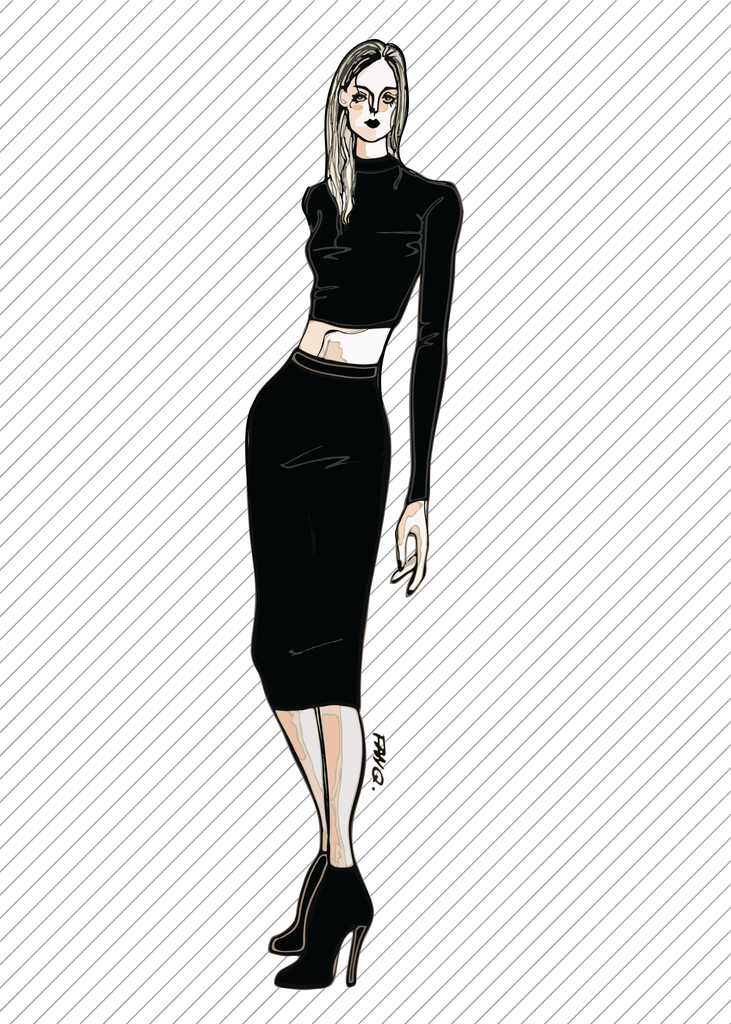 SLINKY bodycon skirt - PDF sewing pattern by Kommatia Patterns