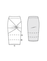 SLINKY twisted skirt - PDF sewing pattern