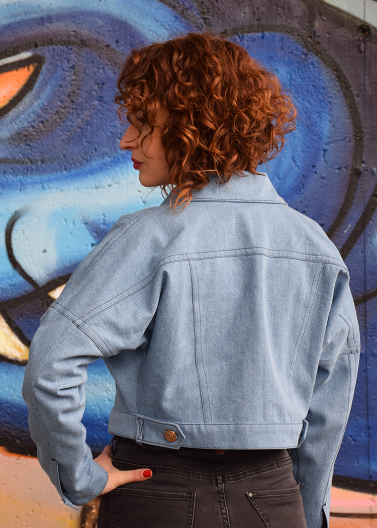 SUSAN cropped denim jacket - PDF sewing pattern