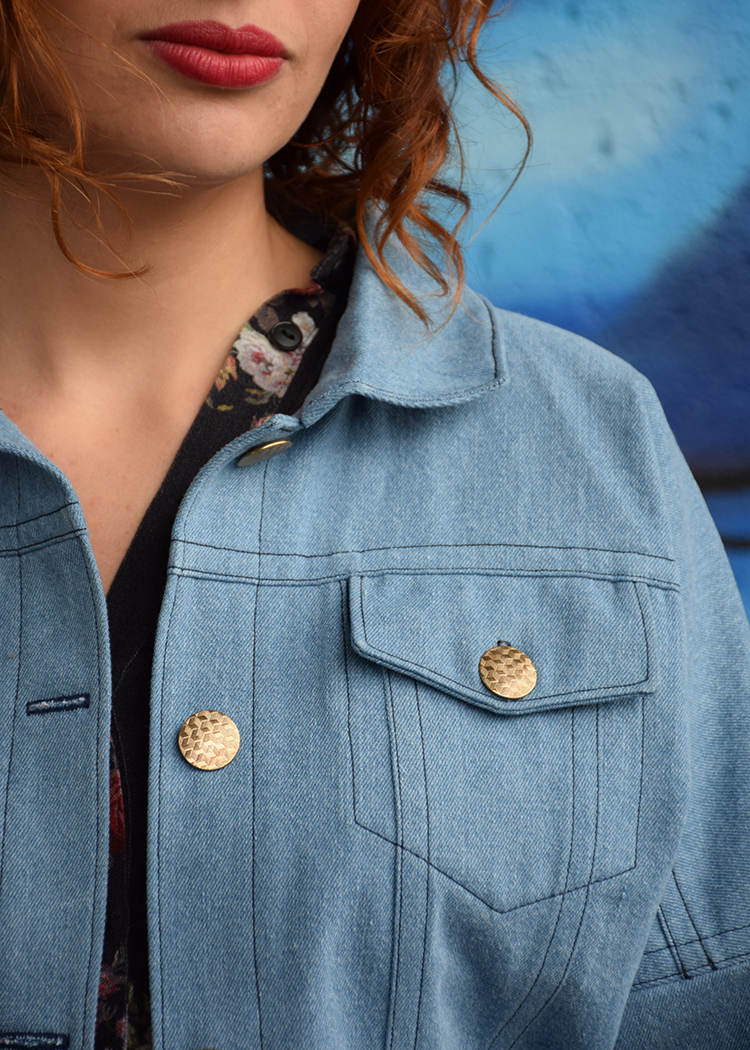 SUSAN cropped denim jacket - PDF sewing pattern by Kommatia Patterns