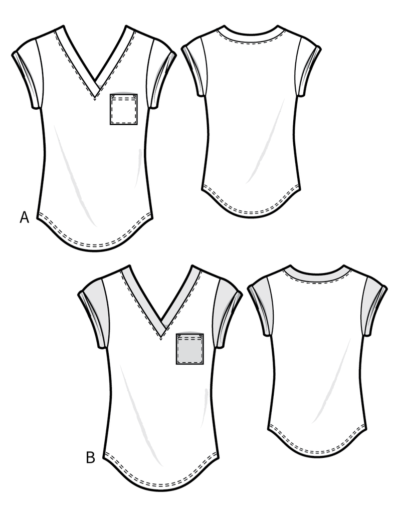 T003 relaxed t-shirt - PDF sewing pattern by Kommatia Patterns