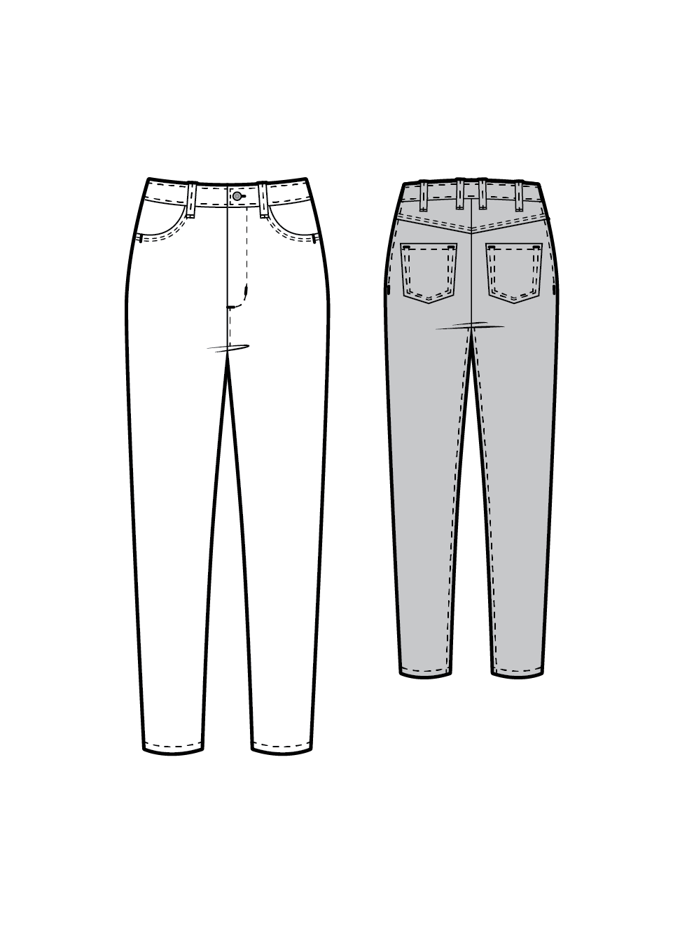 TR803 Skinny jeans - PDF sewing pattern by Kommatia Patterns