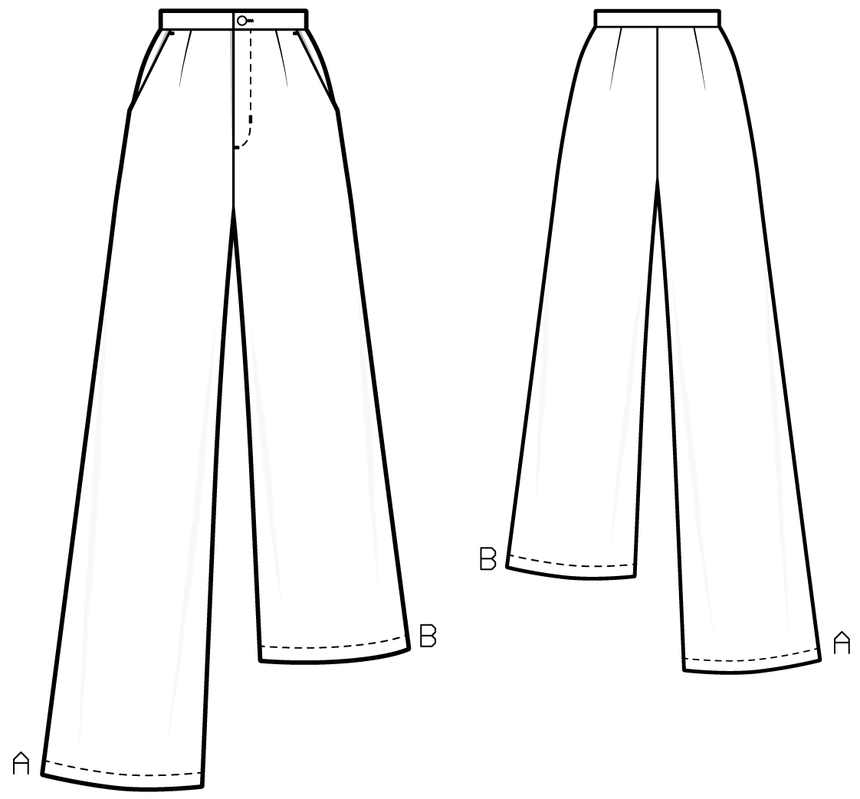 TR804 Palazzo trousers - PDF sewing pattern