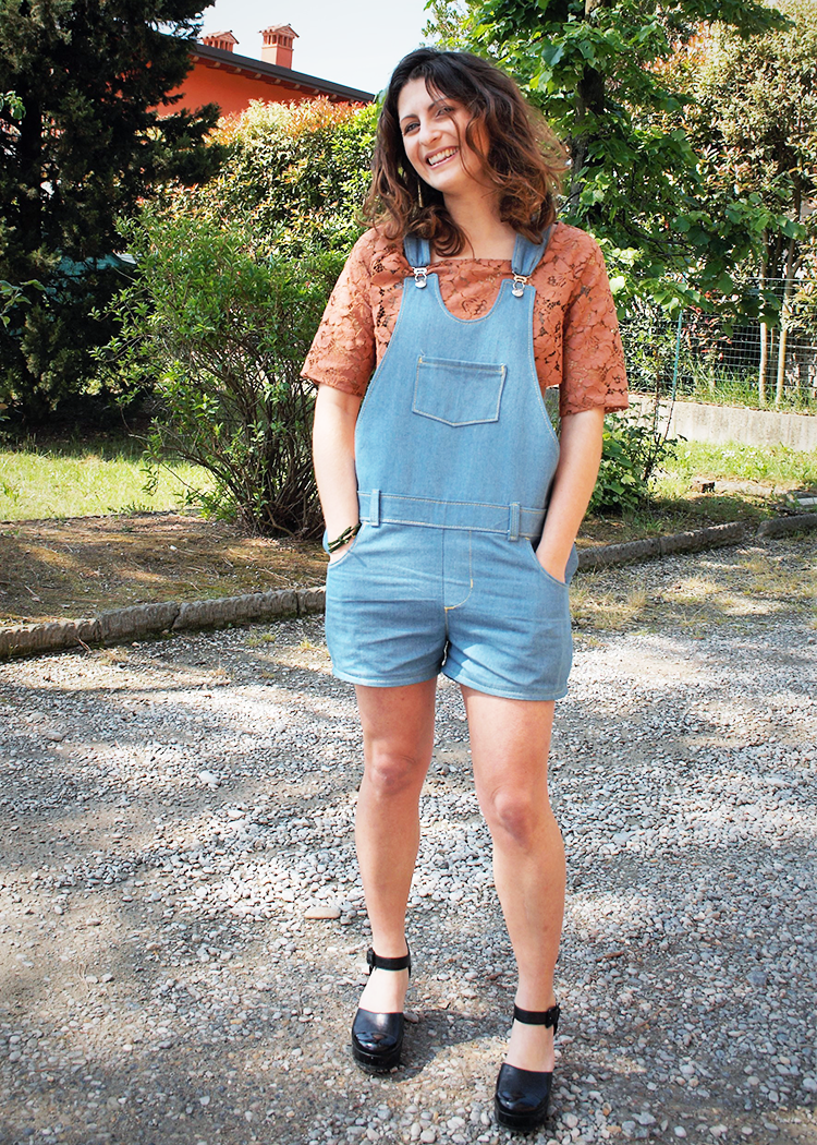 TR809 Short denim overalls - PDF sewing pattern