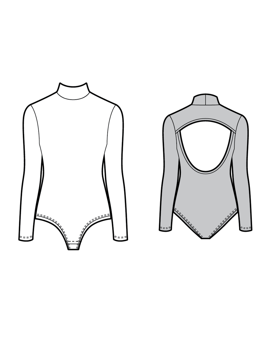 TRAPEZE the bodysuit - PDF sewing pattern by Kommatia Patterns
