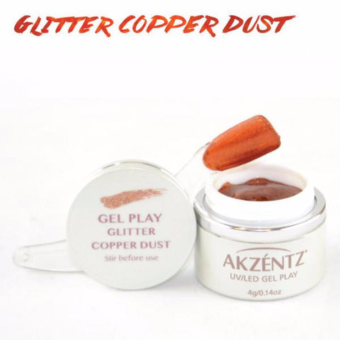 Akzentz Gel Play - Glitter Copper Dust - The Nail Hub