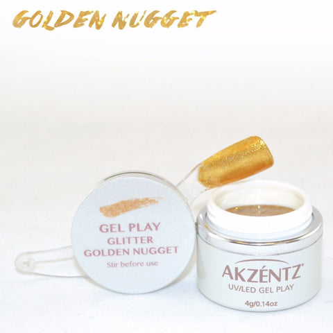 Akzentz Gel Play - Glitter Golden Nugget - The Nail Hub
