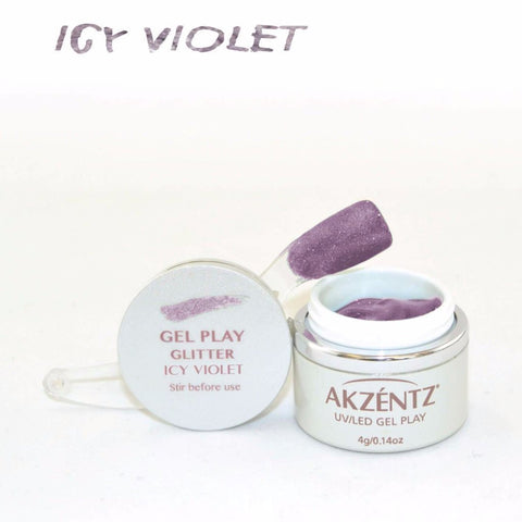 Akzentz Gel Play - Glitter Icy Violet - The Nail Hub