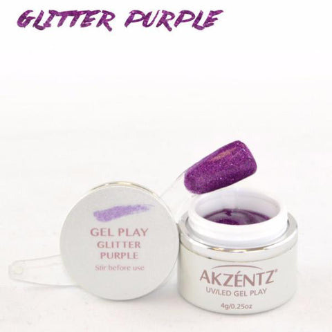 Akzentz Gel Play - Glitter Purple - The Nail Hub
