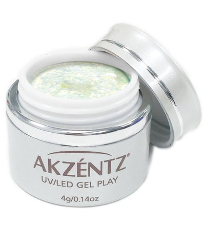Akzentz Gel Play - Glitter Shifter Green Sea - The Nail Hub