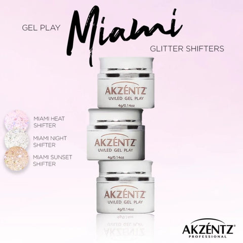 Akzentz Gel Play - Glitter Shifter Miami Collection - The Nail Hub