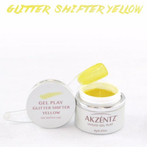 Akzentz Gel Play - Glitter Shifter Yellow - The Nail Hub