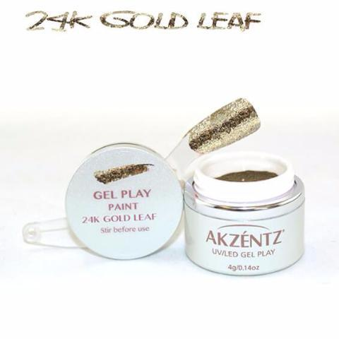 Akzentz Gel Play - Glitz 24K Gold Leaf - The Nail Hub