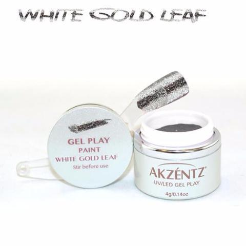 Akzentz Gel Play - Glitz White Gold Leaf - The Nail Hub
