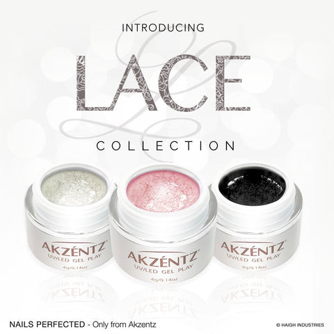 Akzentz Gel Play - Lace Collection - The Nail Hub