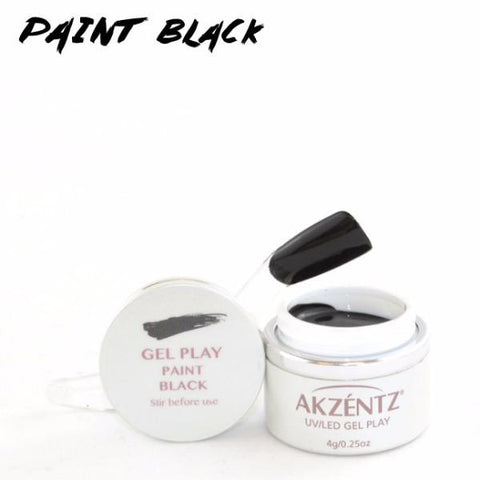 Akzentz Gel Play - Paint Black - The Nail Hub