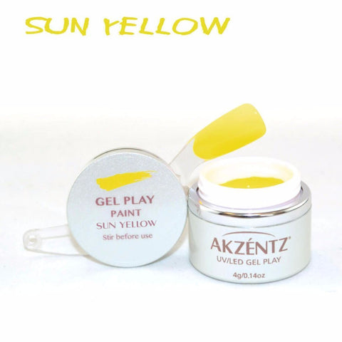 Akzentz Gel Play - Paint Sun Yellow - The Nail Hub