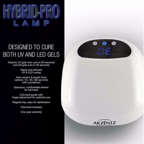 Akzentz Hybrid Pro UV+LED Duo Nail Lamp - The Nail Hub