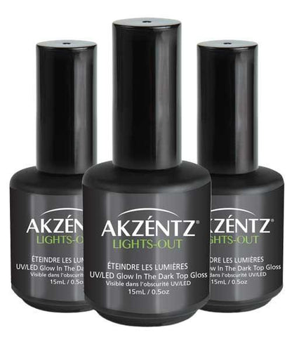 Akzentz Lights Out Glow-In-The-Dark Gel Top Coat - The Nail Hub