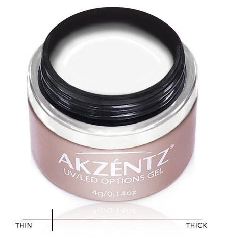 Akzentz Options Soak-Off Gel - Brite White - The Nail Hub