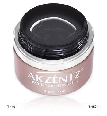 Akzentz Options Soak-Off Gel - Crystal Clear 4g Jar - The Nail Hub