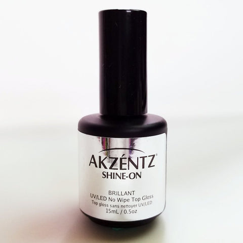 Akzentz Shine-On (No Cleanse) Gel Top Gloss - The Nail Hub