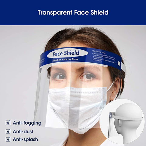 Full Protective Face Shield (pack of 10) - The Nail Hub