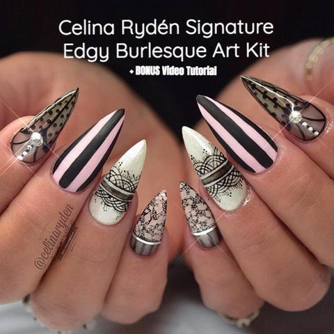Light Elegance Celina Ryden Signature Edgy Burlesque Art Kit - The Nail Hub