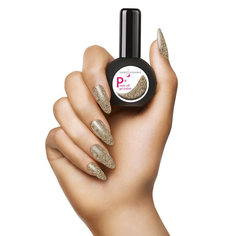 Light Elegance P+ Gel Polish - Gold - The Nail Hub