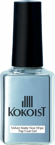 New! Kokoist Velvet Matte No-Wipe Top Coat - The Nail Hub