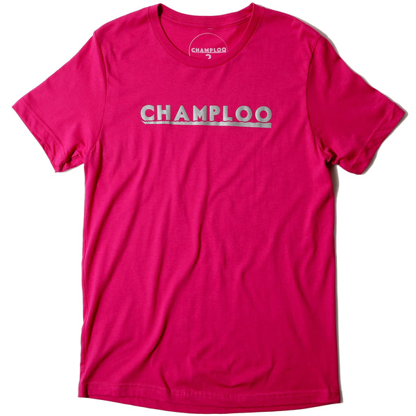 CHAMPLOO Tee Sunset Panel #3 -Burning Pink-