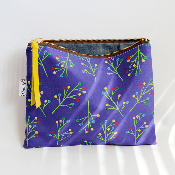 Large Zipper Pouch, Ava